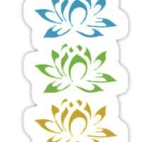 seven lotus flowers Sticker
