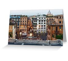 Via Condotti Waking Up - Impressions Of Rome Greeting Card