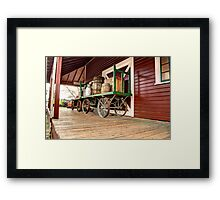 Waiting at the Station Framed Print