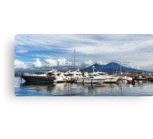 Vesuvius and Naples Harbor - Mediterranean Impressions Canvas Print