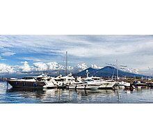 Vesuvius and Naples Harbor - Mediterranean Impressions Photographic Print