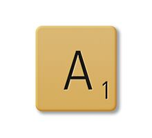 Scrabble Tile - A by axemangraphics
