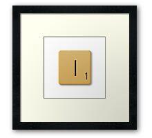 Scrabble Tile - I Framed Print
