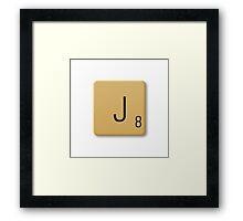 Scrabble Tile - J Framed Print