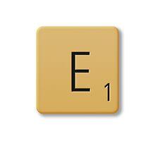 Scrabble Tile - E by axemangraphics