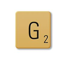 Scrabble Tile - G by axemangraphics