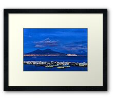 Blue Night in Naples - Mediterranean Impressions Framed Print
