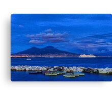 Blue Night in Naples - Mediterranean Impressions Canvas Print