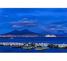 Blue Night in Naples - Mediterranean Impressions Photographic Print