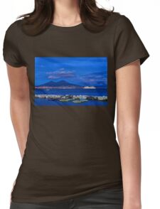 Blue Night in Naples - Mediterranean Impressions Womens Fitted T-Shirt