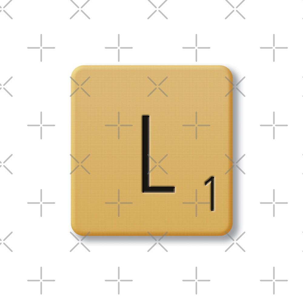 Scrabble Tile - L by axemangraphics