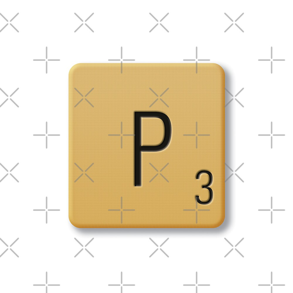 Scrabble Tile - P by axemangraphics