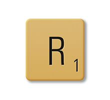 Scrabble Tile - R by axemangraphics