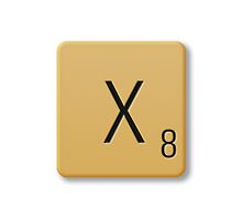 Scrabble Tile - X by axemangraphics