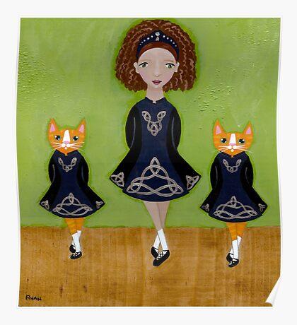 The Irish Step Dancers Poster