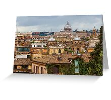 Messy, Fascinating and Wonderful - the Roofs of Rome Greeting Card