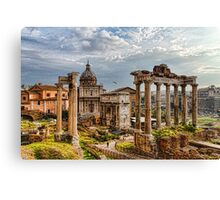 Ancient Roman Forum Ruins - Impressions Of Rome Canvas Print