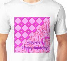 Hot Pink Butterfly Sweet 16 Unisex T-Shirt