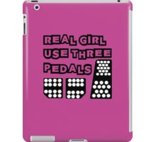 real girl use three pedals iPad Case/Skin