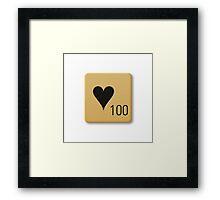 Scrabble Tile - Love Framed Print