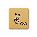 Scrabble Tile - Peace by axemangraphics