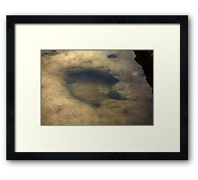 Footsteps Into Another Era Framed Print