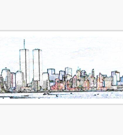NYC Twin Towers Sticker