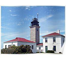 Beavertail Lighthouse, Conanicut Island, Narragansett Bay, Rhode Island Poster