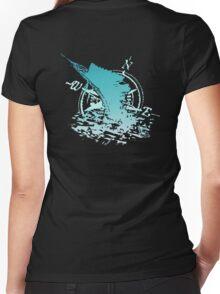 Sail FL Aqua Women's Fitted V-Neck T-Shirt
