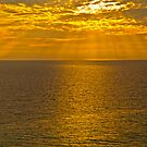 GOD'S RAYS SHINING DOWN ON THE GULF by RGHunt
