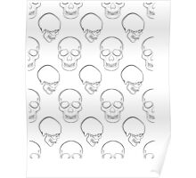 Repeated Skulls Poster