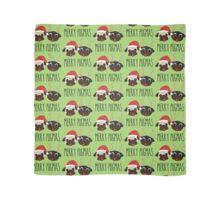 Merry Pugmas Santa & Reindeer Pugs Pattern 2 Scarf