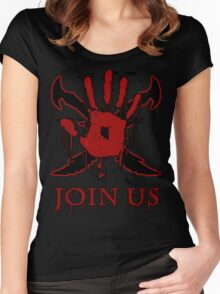 """***AWESOME*** Dark Brotherhood """"JOIN US"""" Women's Fitted Scoop T-Shirt"""