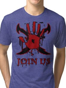 "***AWESOME*** Dark Brotherhood ""JOIN US"" Tri-blend T-Shirt"