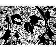 Skulls - Woodcut Photographic Print