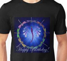 Blue Dragonfly Dance Birthday Design  Unisex T-Shirt