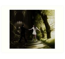 You brought me out of the darkness and into the light. Art Print