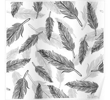 feathers pattern  Poster
