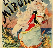 French belle epoque mime theatre advertising by aapshop
