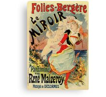 French belle epoque mime theatre advertising Canvas Print