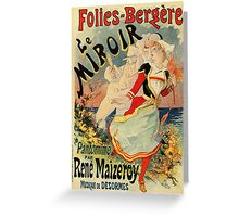 French belle epoque mime theatre advertising Greeting Card