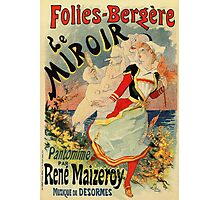 French belle epoque mime theatre advertising Photographic Print