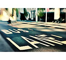 Bus Lane Photographic Print