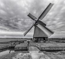 Dutch Windmill in Greyscale by AlexFHiemstra