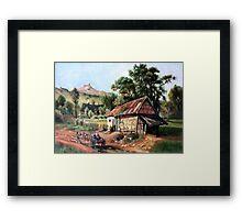 In the Foothill after Albert Bierstadt Framed Print