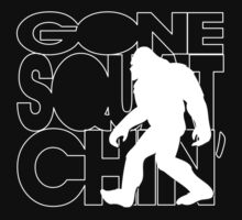 Gone Squatchin' -  White by avdesigns