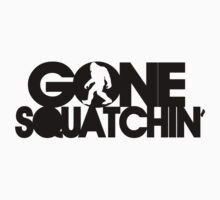 Gone Squatchin' black silhouette by avdesigns