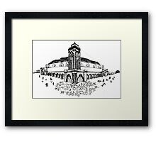 The Hassan II Mosque or Grande Mosquée Hassan II Framed Print