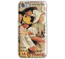 French belle epoque pottery expo advertising iPhone Case/Skin