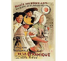 French belle epoque pottery expo advertising Photographic Print